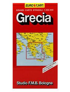 GRECIA CARTINA STRADALE [SCALA: 1:300.000] [MAPPA/CARTA] STUDIO F.M.B. BOLOGNA