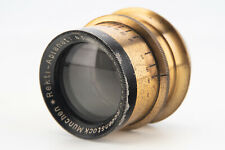 Rodenstock Munchen Rekti Aplanat 21cm 210mm f/8 Antique Brass Barrel Lens V03