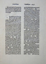 INKUNABELBLATT ARISTOTELES Le livre de politiques PARIS GUY MARCHANT FRENCH 1489