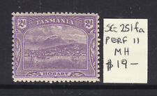 New listing Tasmania: 2d Pictorial Bright Reddish Violet Sg 251 fa Perf 11 Mh.