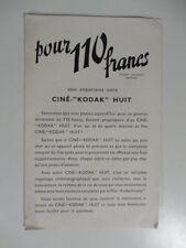 Pour 110 francs vous emporterez cine' Kodak Huit. Pieghevole pubblicitario