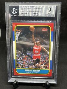 2009-10 Upper Deck Jordan Legacy Gold 1986 Fleer #97 Michael Jordan BGS 9 🔥