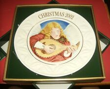 Belleek fine parian china 2002 Christmas Plate MIB  Angel Of Harmony