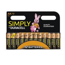 12 x Duracell Simply AA Alkaline Batteries LR6 MN1500 Alkaline 1.5V Long Lasting