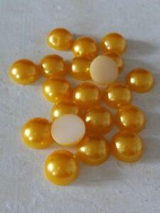 Halbperlen Acryl 10mm Gold Gelb, Menge wählbar