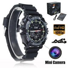 HD 1080P 32GB Night Vision Spy Hidden Waterproof Watch Video Recorder Camera DVR