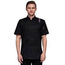 Cook Jacket Coat Restaurant Hotel Chef Button Tops Kitchen T-shirt Uniform/Set