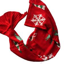 Xmas Mermaid Tail Blanket Soft Warm Crochet Blankets Girls Sofa Sleeping Bag