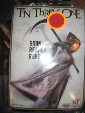 NEW Grim Reaper Hooded Robe Halloween One Size vampire cape Mens costume