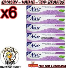 6 x Nair Moisturising Nourishing Hair Removal Cream 80ml With Baby Oil -FAST P&P
