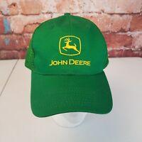 John Deere Tractor Mesh Snap Back Hat Green
