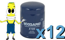 Premium Oil Filter Ecogard X195 Replaces Fram PH3600 L20195 PG195 Case of 12