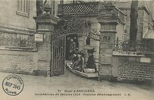 CARTE POSTALE ASNIERES LA CRUE DE LA SEINE 1910 / SINISTRE DEMENAGEMENT