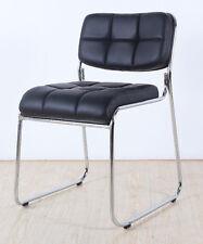1 Stuhl Konferenzstuhl Designer Bürostuhl PU verchromt Lederstuhl Stapelstuhl