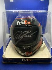 NEW NASCAR Denny Hamlin #11 Fed Ex Express JGR Signed Mini Helmet 1:3 Scale