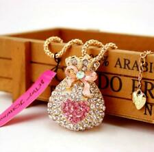 Hot Betsey Johnson Pendant Jewelry Rhinestone Gold Chain Purse Charm Necklaces