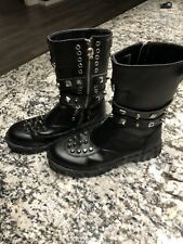 Tripp - Black Studded Boots - Style:  Crush - Size 9