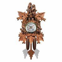 Vintage Home Decorative Bird Wall Clock Hanging Wood Cuckoo Clock Living R X6U8