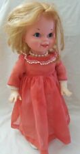 "Vintage 1964 Mattel Walk Dance Girl Baby Doll 18"" Tall USA  Parts or Repair Only"