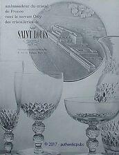 PUBLICITE SAINT LOUIS AMBASSADEUR DU CRISTAL SERICE ORLY DE 1959 FRENCH AD PUB