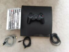 Sony PlayStation 3 - Slim 160GB Black CECH-3001a with 9 games and controller