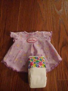 Hasbro Baby Alive Baby Doll 2006 Purple Dress Shirt plus diaper,VERY CUTE RARE