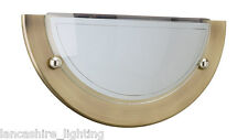 Ant. Basic Brass Metal Rim Wall Light With Glass Shade - 60W