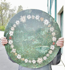 VTG Cocktail Table/  Marble Mosaic Inlay/ Top 24''/ 61 cm/ Pietra Dura Wreath