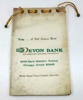 Vintage Devon Bank & Subsidiary Building Corp. Bank Bag ~ Chicago, Illinois ~ #4
