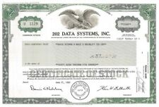 202 Data Systems, Inc. > 1983 Pennsylvania old stock certificate share