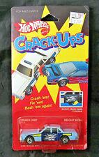 Hot Wheels 1985 Crack-Ups Crunch Chief Police Car 7572 - MOC!! Sealed!!