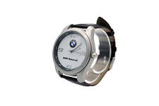 BMW Motorrad Mens Watch Stainless Steel Brown Leather Strap / White Face - UK