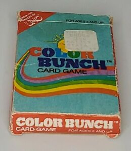 Vintage 1983 International Games Color Bunch Card Game From Makers Of UNO #1083