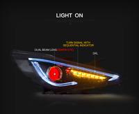VLAND Demon Headlight w/DRL for Hyundai Sonata 11-14 GLS Limited SE 11-13GL