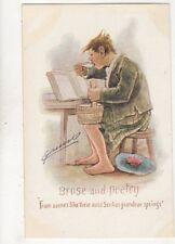 Cynicus Brose And Poetry Vintage Postcard 320b