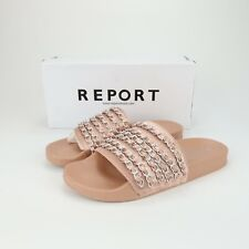 Report Womens Gregers Open Toe Casual Slide Sandals Blush Size 9 pl5