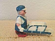 "Vintage Ramp Walker Plastic 3.5"" Man Pushing Wheel Barrow Toy Works"
