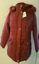 Mujer Chaqueta Acolchada De Invierno Abrigo corto Parka Italy Piel 2XL Himbee