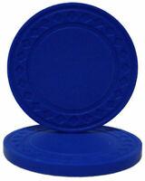 NEW 100 Blue Super Diamond 8.5 Gram Poker Chips - Buy 2 Get 1 Free