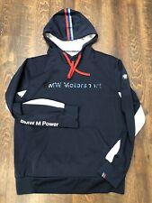 BMW Motorsport M Power Men's L Navy Blue Pullover Hooded Jacket