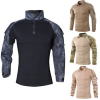 Men's Military Rapid Assault Sleeve Slim Fit Long Sleeve Combat T-Shirt Outdoor