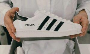 Prada X Adidas Superstar White Black Men's 9 Shell toe sneakers
