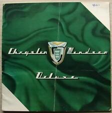 CHRYSLER WINDSOR DELUXE USA LF Car Sales Brochure 1955 NEWPORT Sedan NASSAU +