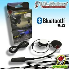 CUFFIA AURICOLARE HELMET BLUETOOTH 5.0 HEADSET PER CASCO INTERNO INTERFONO MOTO