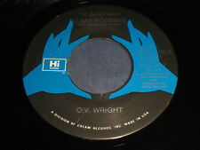 O.V. Wright: No Easy Way To Say Goodbye / The Bottom Line 45 - Soul