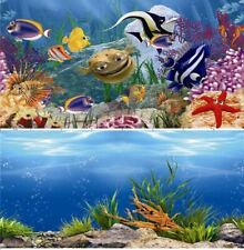 "Aquarium Fish Tank Background Double Sided 24"" / 60cm High - 2 to 10 FT Lengths"