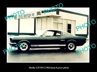 OLD LARGE HISTORIC PHOTO OF 1966 SHELBY MUSTANG GT 350 S LAUNCH PRESS PHOTO