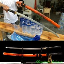 Japanese Ghost Dance Katana Battle Sword Pattern Steel Blade Sharp Sabre #2541