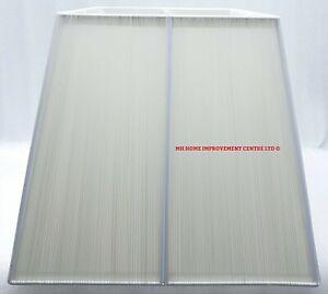 Square White String Lampshade Angular Tapered Cream Diffuser W&D 32.5cm H27.5cm
