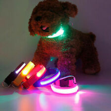 Night Pet Dog Collar Safety Glow Luminous LED Flashing Light Up Neck Strap Leash
